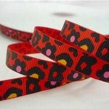 Wholesale 1″ Flowers Leopard Cheetah Printed Grosgrain Ribbon for DIY Hairbows