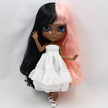 ICY Neo Blythe Doll Black Pink Hair Jointed Body 30cm
