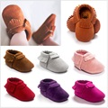 2017 Baby First Walkers Baby Boys Shoes Soft Tassel Bebe Moccasins Solid Fringe Socks Baby Sneakers