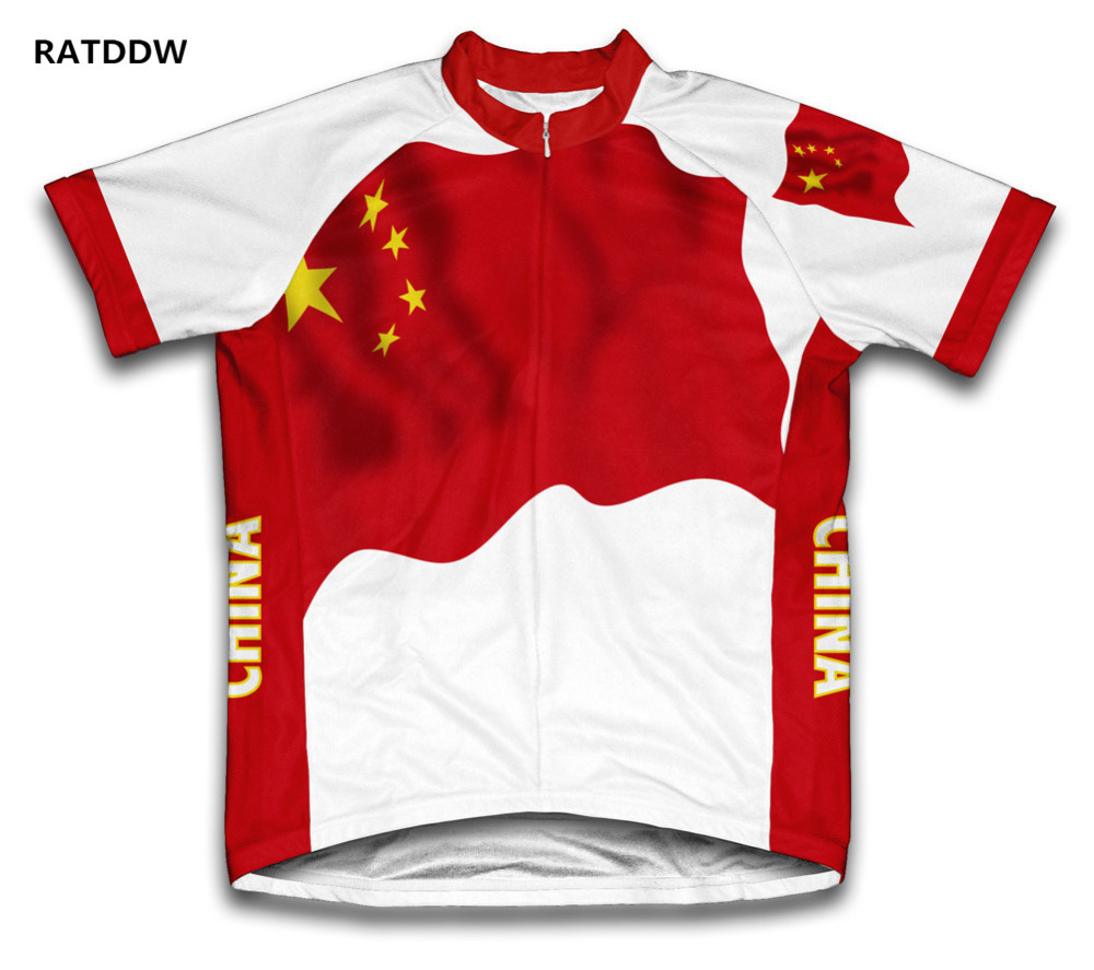 China Flag Bicycle Wear Mountain Bike Cycling Jersey For