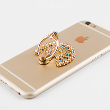 Diamond Crystal Metal Peacock Ring Stand mobile phone Holder multifunction Universal for Iphone Cell Phone Accessories