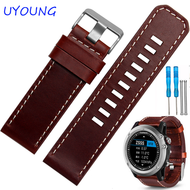26mm Braun Leder Armband Qualitat Echtes Leder Uhrenarmband Mit