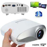New Mini Projector Full HD Portable 1080P 3D HD LED Projector Multimedia Home Theater USB VGA