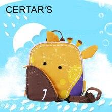 CERTAR'S Children's Backpacks Animal Yellow Deer Anti Lost Toddler Backpack Baby Wrist Leash Kawaii Baby Waterproof Backpack