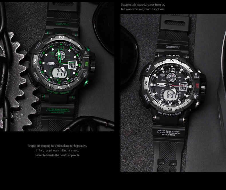 SMAEL Homens Relógios Choque À Prova D' Água Esportes Relógio montre homme relogio Militar Man Army relógio de Pulso Digital Relógio Eletrônico Relógio