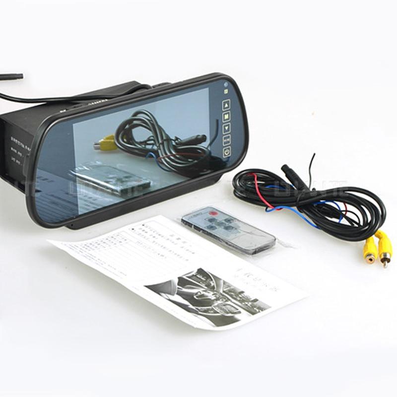 "Russian USA native shipment HD 7\"" Car <font><b>LCD</b></font> Media Monitor TV/DVD/GPS Screen+E318 120degee Front Back Rear View Parking Camera"