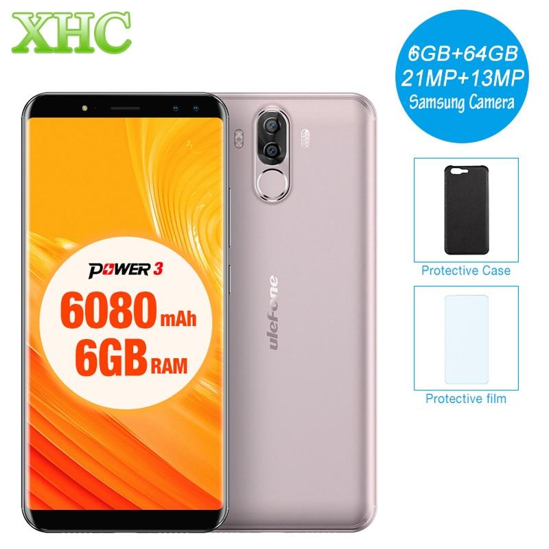 "Ulefone Power 3 6.0""18:9 Full Screen Smartphone 6080mAh 6GB 64GB Octa Core Face ID 21MP OTG 5V 3A Fast Charge Dual SIM Cellphone"