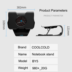 Image 5 - COOLCOLD Laptop Cooling Stand Single Fans Notebook Cooler Base Air Cooled 7 Angle Adjustable Holder for 15.6 17 Laptop Non slip