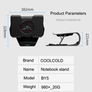 Image 5 - COOLCOLD, soporte de refrigeración para ordenador portátil, ventiladores individuales, Base refrigerada por aire, soporte ajustable de 7 ángulos para portátil 15,6 17, antideslizante