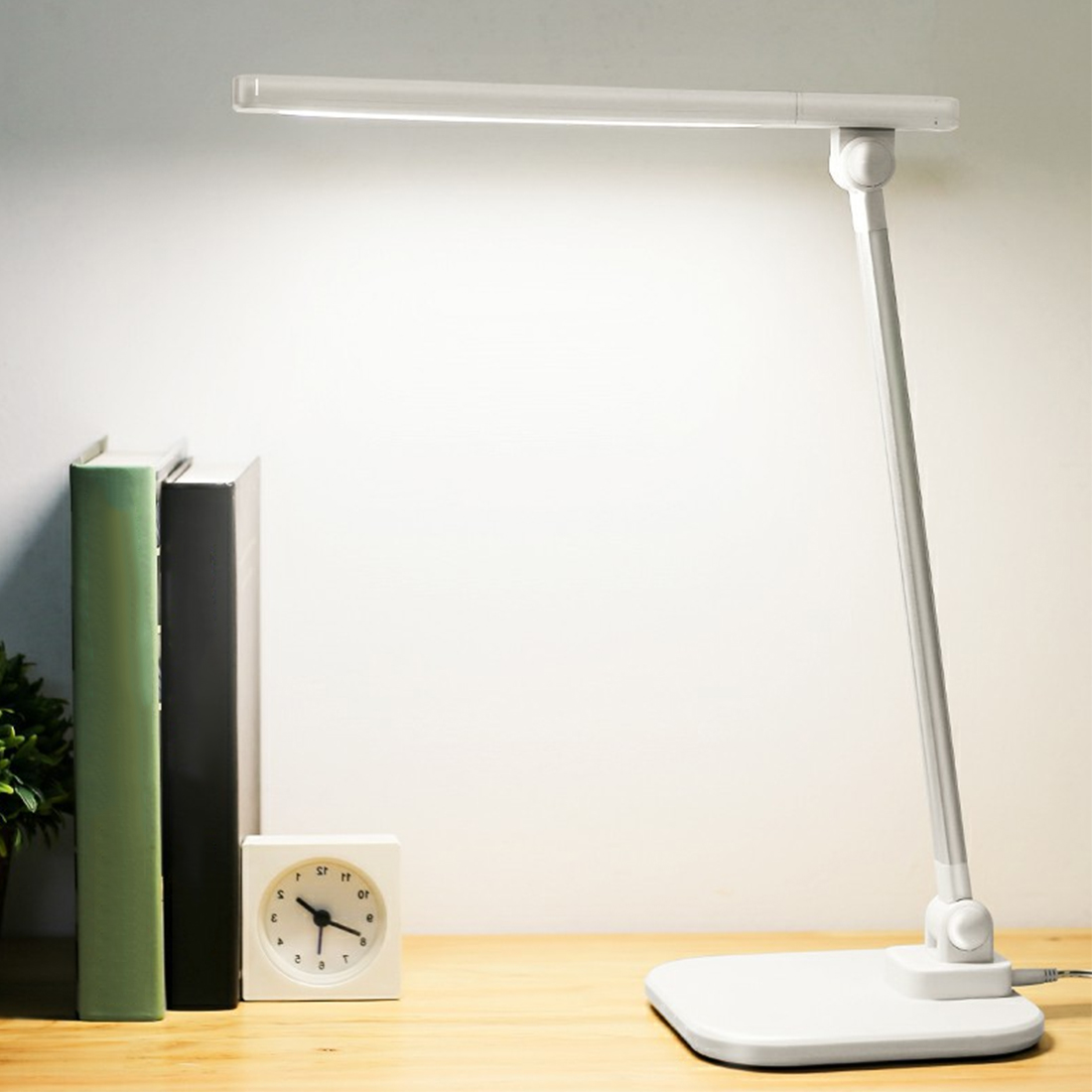 1pc 5W USB Charging Port Touch-Sensitive Controller Table Lamp 36 LEDs Desk Lamp Foldable Dimmable Rotatable Eye Care LED new led table lamp 12w foldable 7 levels dimmer rotatable eye care led desk lamp touch sensitive controller usb eu us plug