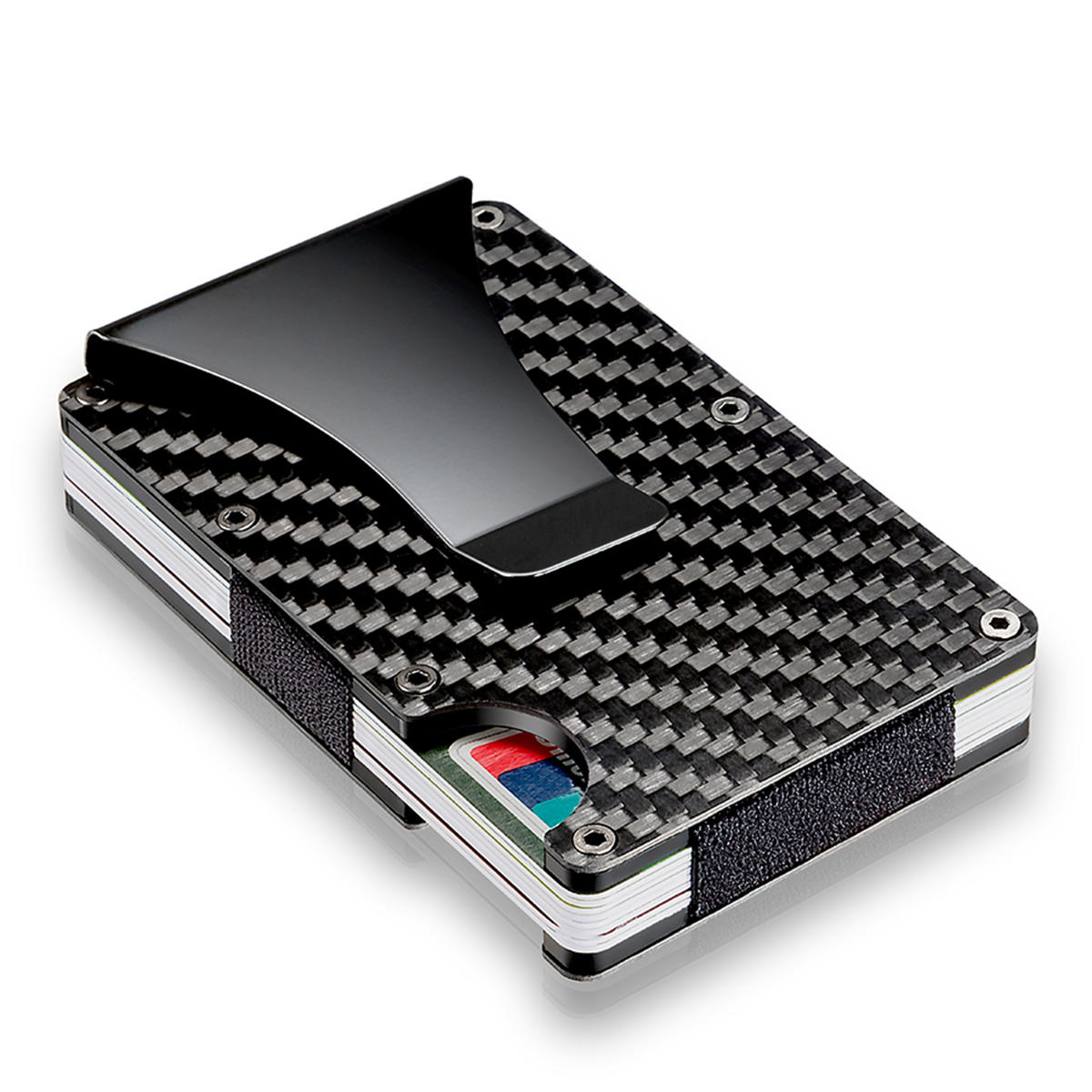 JHD Fashion Minimalist Wallet Universal Slim Wallets Carbon Fiber Wallet Credit Card Holder ...
