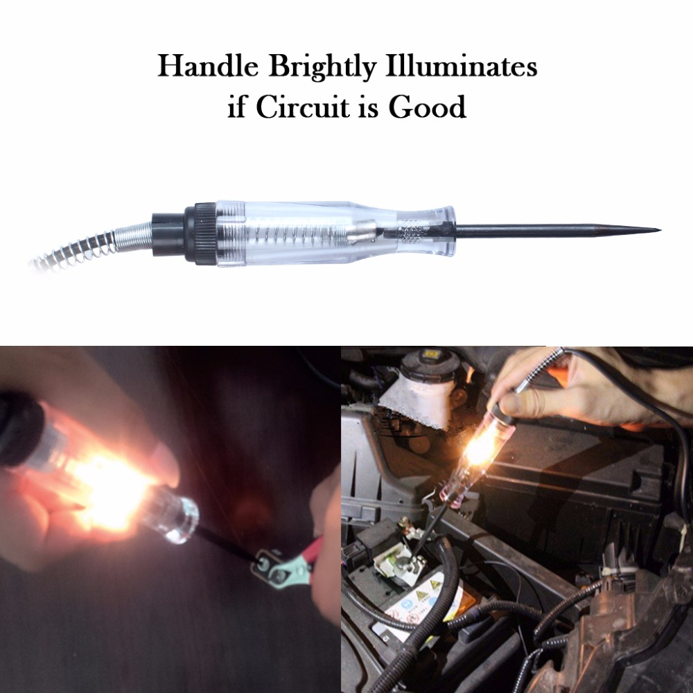 Circuit Tester Pen 6v 12v Dc Systems Long Probe Continuity Test Voltage Testers Automatic Car In Electrical Leads From Automobiles Motorcycles On
