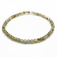 4 mm Labradonite Beads  Women Men Girls Bracelet Nature Stone Not synthetic 17.5 CM Long Gift