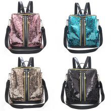 Sequins school backpack for girls