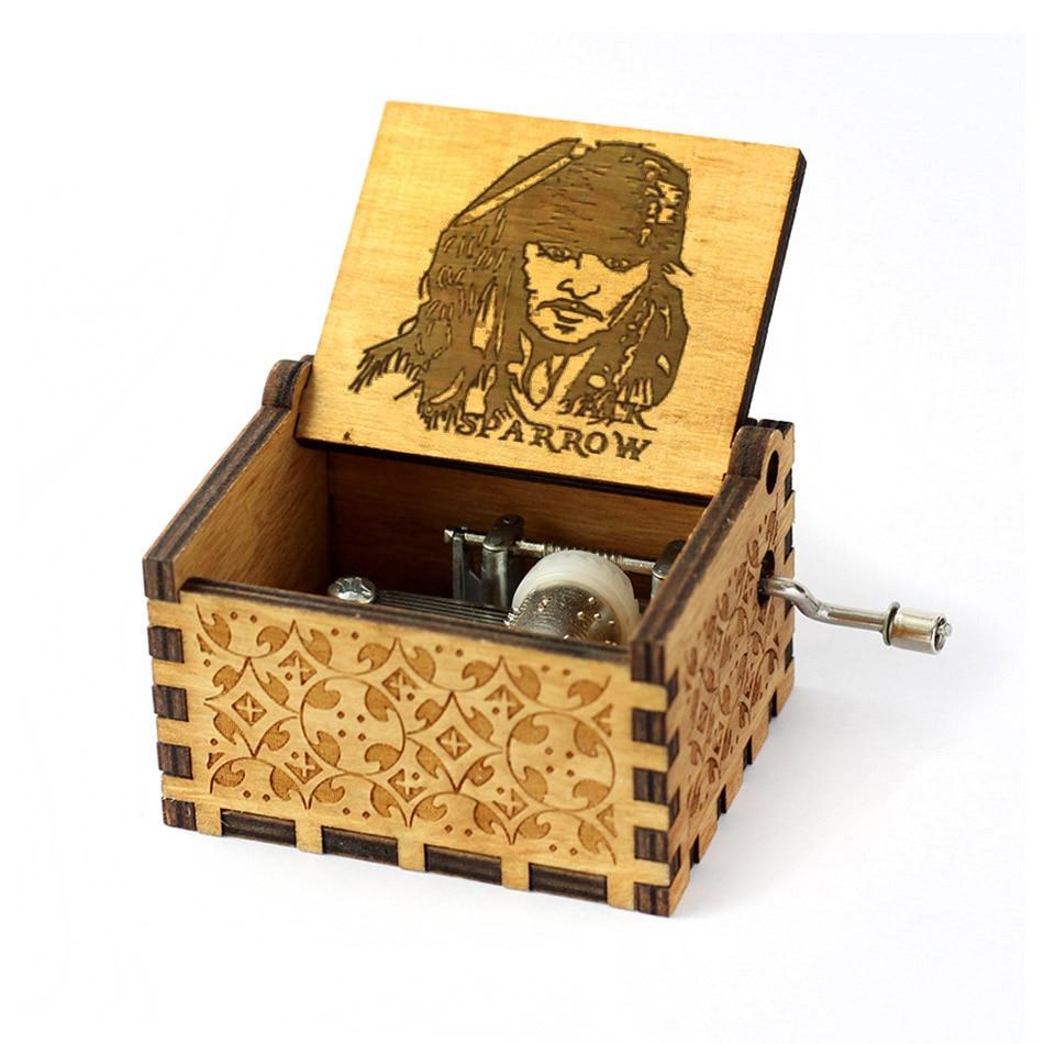 Деревянная музыкальная шкатулка для игры в трон, подарок на Рождество, день рождения, год, подарок для детей - Цвет: Jack from pirates