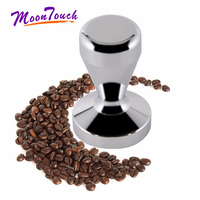 Silver Espresso Tamper 49mm 51mm 57.5mm 58mm 58.3mm 304 Stainless Steel Coffee Tamper Wood Handle Coffee Press Barista Tools