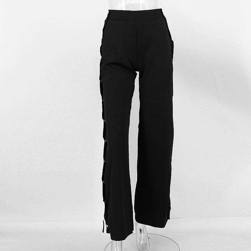 HTB1E4N6SpXXXXc0XFXXq6xXFXXXd - Red button track pants runway Women's wide leg trousers casual pants JKP012