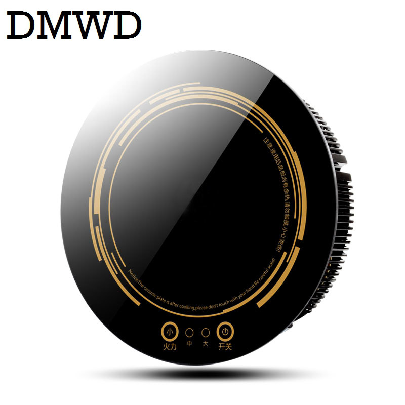 DMWD Round electric magnetic induction cooker wire control Embedded mini hob Burner Commercial waterproof hot pot stove cooktop dmwd commercial 3500w electromagnetic induction cooker household waterproof mini hotpot cooktop hot pot cooking stove eu us plug