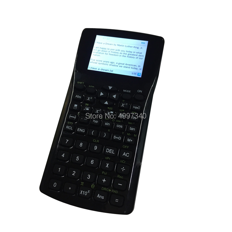 Free shipping fashion young student txt calculator big screen learning with  emergency button quick response text calculator