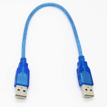 1pc 30cm Blue USB 2.0 Type A Male to USB Male Adapter Cable High Quality USB 2.0 Data Extension Cable Cord Mayitr