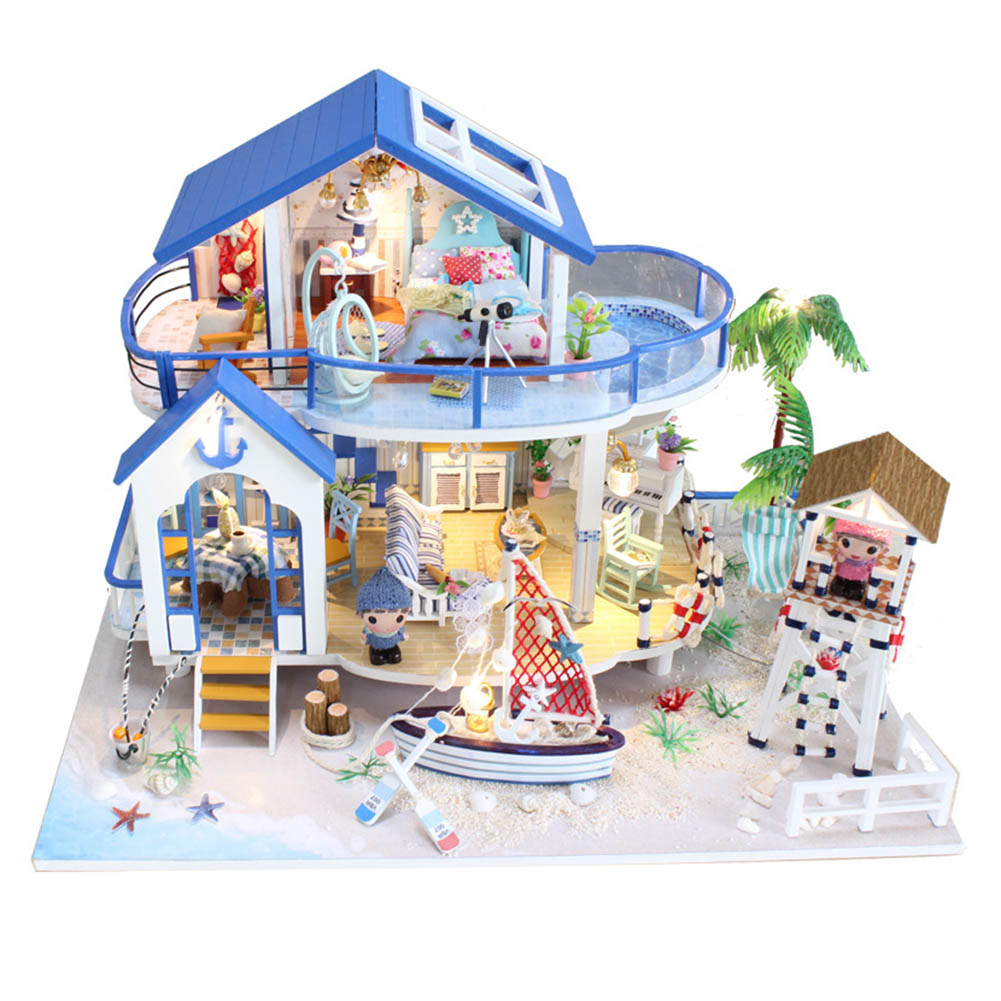 Miniature Dollhouse DIY Handcraft Kit Furnitures Wooden House Romantic Artwork Gift BM88