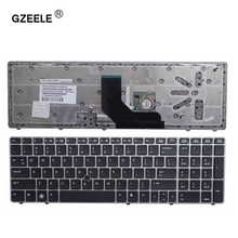 GZEELE  New English Keyboard for HP EliteBook 8560p 8570P 8560B 6560b