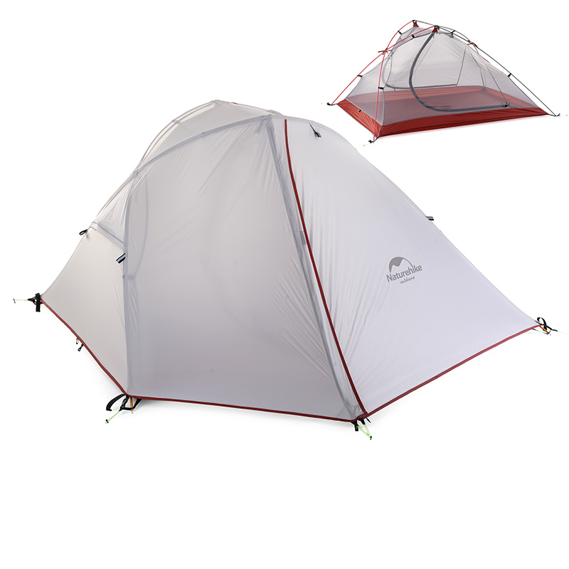 Naturehike 1-2 Person Camping Tent 3 Season Windproof Tent Outdoor Picnic Double Layer Tent NH16S012-S/NH16S013-S outdoor camping hiking automatic camping tent 4person double layer family tent sun shelter gazebo beach tent awning tourist tent