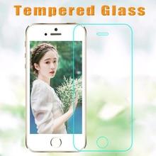100 ピース/ロット 2.5D 強化ガラススクリーンプロテクター iphone XR XS mas 5 4S 5 6 s 6 7 8 プラス HD 強化保護フィルム + クリーンキット