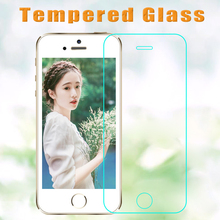 100 pcs/lot 2.5D Tempered Glass Screen Protector For iphone XR XS mas 5S 5 6s 6 7  8 plus HD Toughened Protective Film+Clean Kit