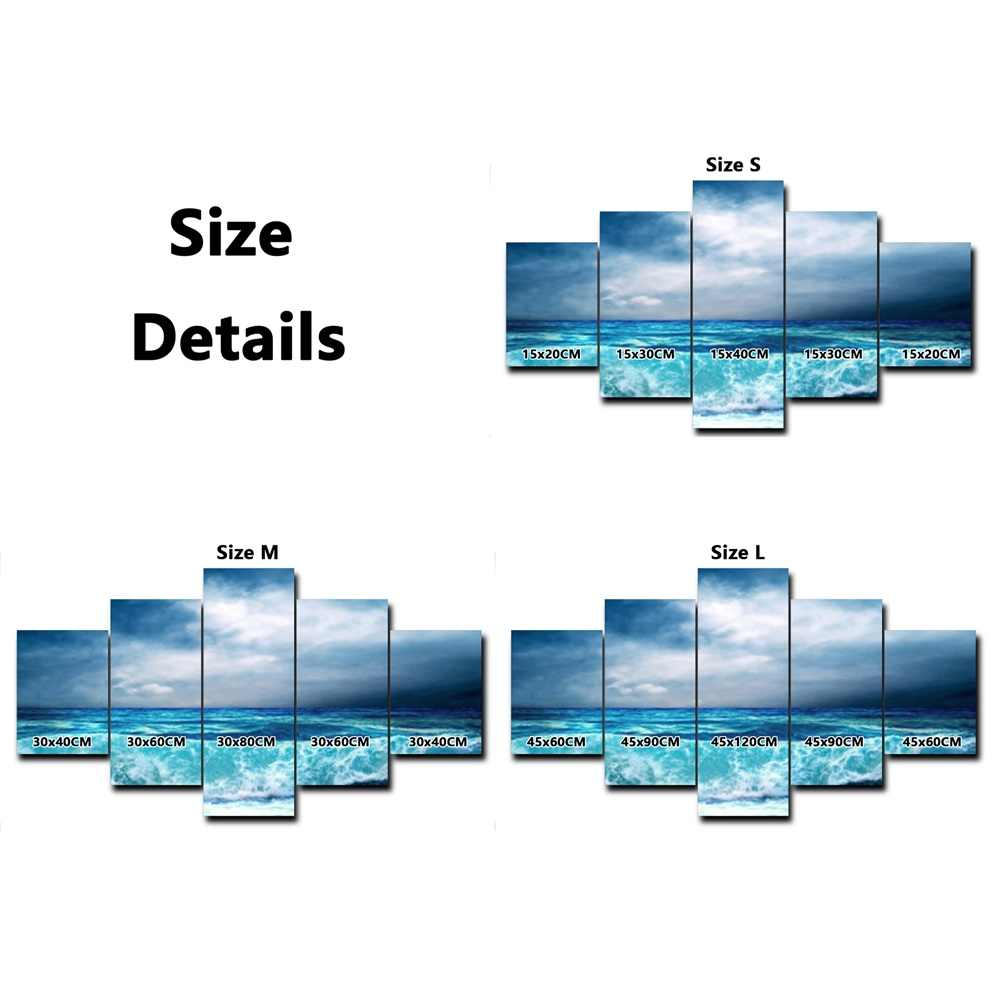 5 Panel Winter Snow Mountain Posters and Prints Modern Wall Art Canvas Painting Living Room Bedroom Wedding Home Decor