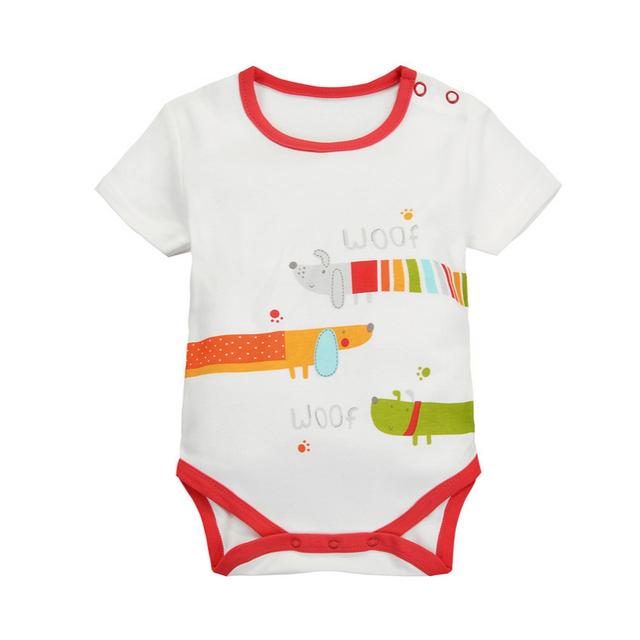 Colorido shortsleeves bodysuits 0-24 m do bebê da menina do menino macacão infantil creppers clothing bebê rumper das crianças presente de aniversário