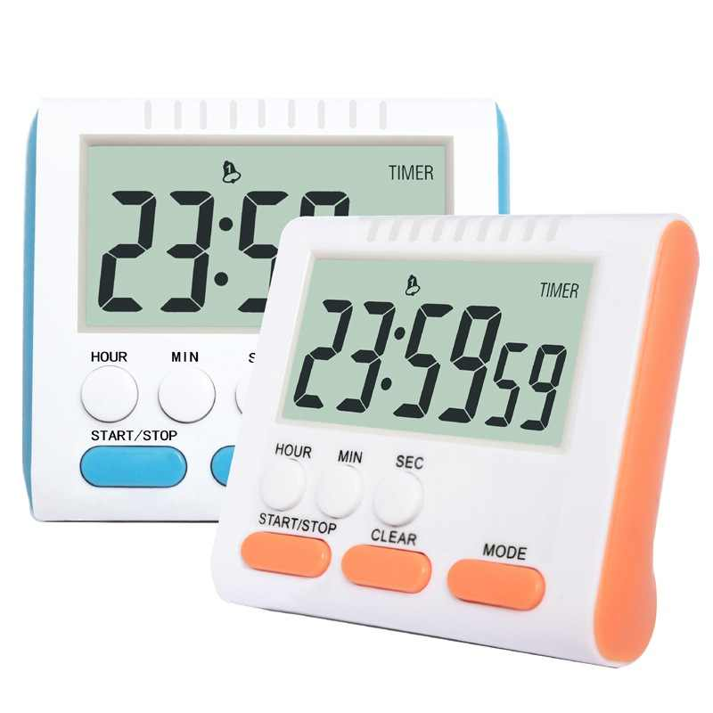 Multifunctional Digital Kitchen Timers AAA Battery Operated with Magnet and Stand Large Digits For Baking Study Beauty