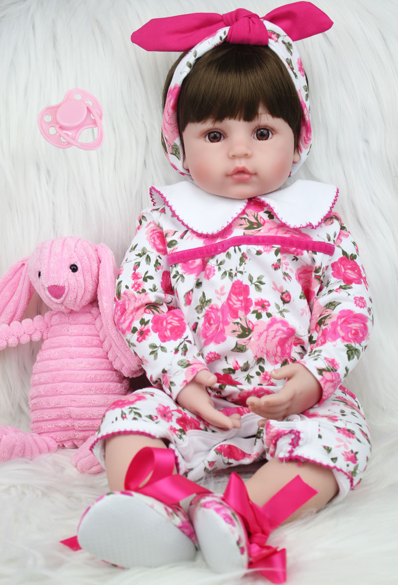 60cm Silicone Reborn Princess Baby Doll Toys Like Real 24inch Vinyl Toddler Girls Babies Dolls Kids Birthday Gift Play House Toy 60cm silicone vinyl reborn girl baby doll toys 24inch princess toddler babies dolls child fashion birthday gift play house toy