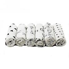 Baby Swaddle Blanket Newborn Gauze Bedding Towel-Pattern Muslin Cotton 120 Multifunctional