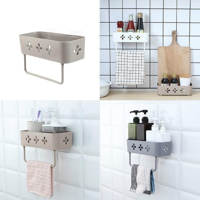 Łazienka ręcznik wieszak na ręczniki półki łazienka szampon żel pod prysznic posiadacze podwójna warstwa kąpieli do przechowywania półki półka do montażu na ścianie łazienka akcesoria