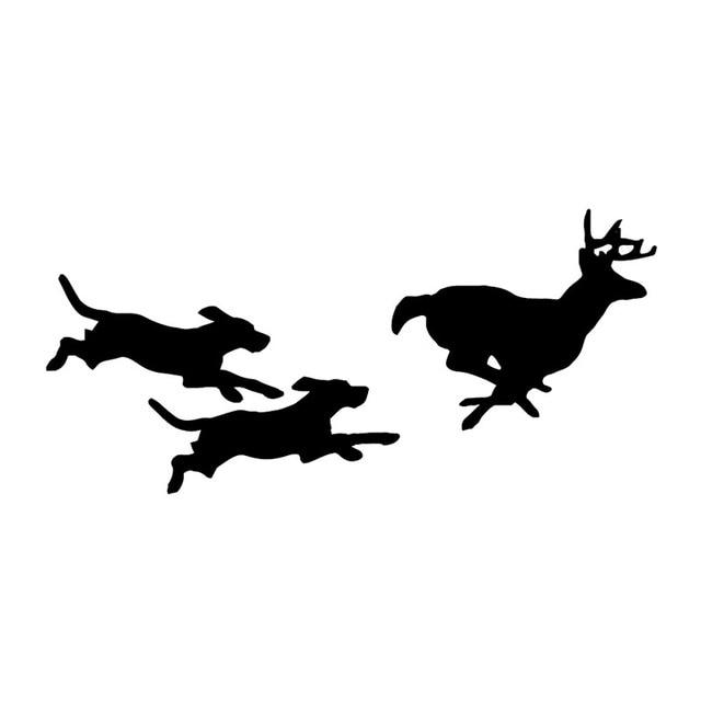 Aliexpress.com : Buy 21.5*10CM Dogs Chasing Deer Vinyl Car ...