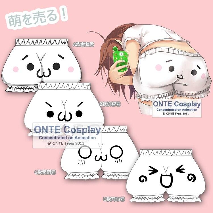 Japanese Cute Harajuku Pumpkin bud bloomers Cosplay Women Shorts expression face shorts Girls Underwear Dropshipping