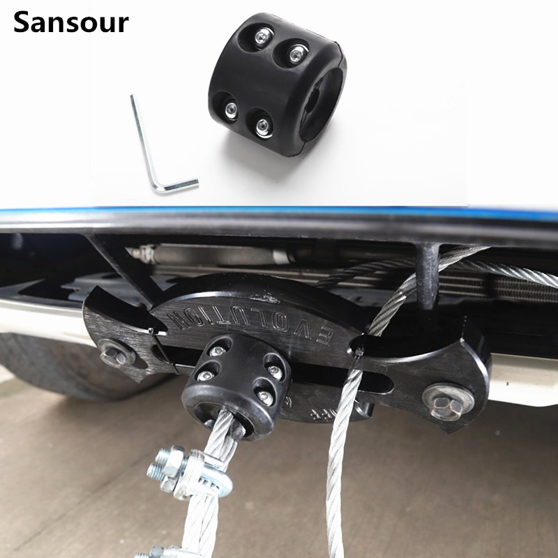 Universal Black Winch Hook Stopper Hawse Fairlead Winch Rope Cable Lead Guide Protector Automotive Accessories
