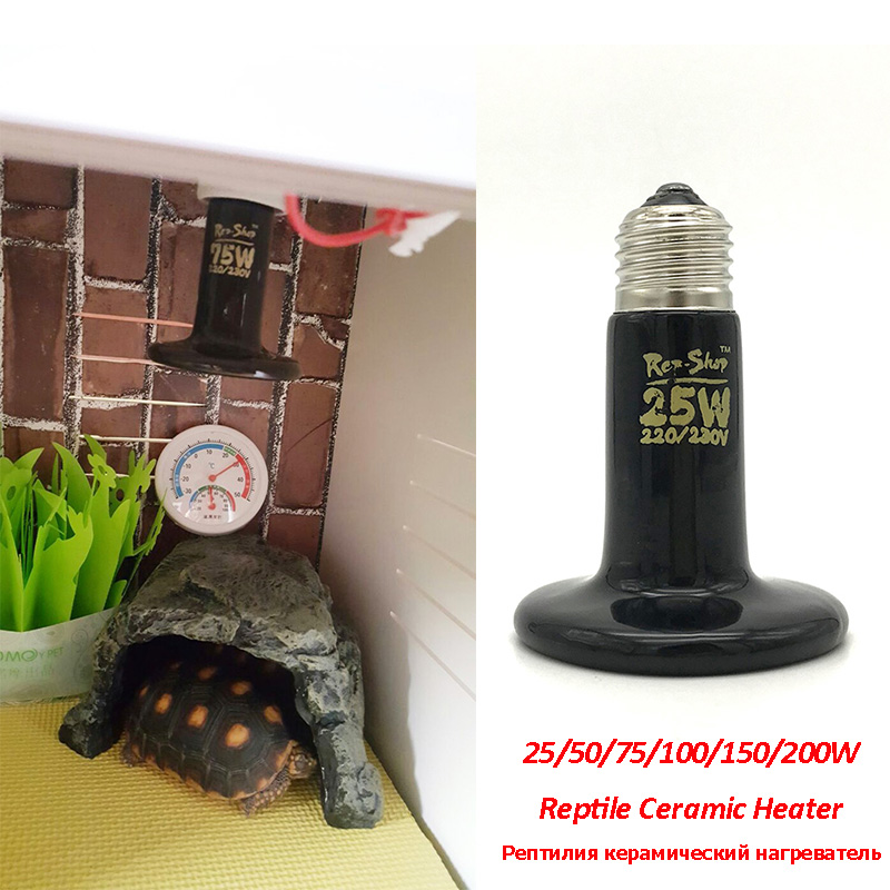 Pet Heating Light Bulb Mini Infrared Ceramic Emitter Heat Lamp Bulb For Reptile Pet Ceramic Heater 25/50/75/100/150/200W