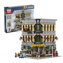 2232Pcs 2016 New LEPIN 15005 City Creator Grand Emporium Model Building Kits Minifigures Blocks Brick Toy Compatible 10211