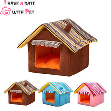 Kennel Dog Cat Bed House Pets Nest Houses Hand washable Removable Cover Mat For Small Medium Chihuahua Pet Product