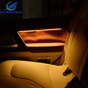 Image 2 - 7PCS 4 Colors Car Interior Atmosphere Light Lamp With Door Wooden Penals For Toyota Land Cruiser 200 FJ200 2008  2017 Models