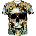 Nuevo 2016 verano hombres / mujer Tops diseño de marca 3d camiseta impresa manga corta alta calidad divertidas Pattern Print T-Shirt tamaño M-XXL