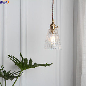 Image 3 - IWHD Nordic Copper Glass Pendant Light Fixtures Bedroom Living Room Loft Pendant Lights Hanging Lamp Luminaire Lighting