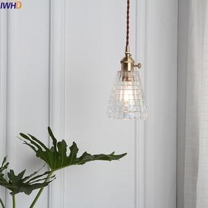 Image 3 - IWHD Nordic แก้วทองแดงจี้ห้องนอนห้องนั่งเล่น LOFT จี้ไฟโคมไฟแขวนโคมไฟแสง