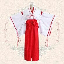 Fiesta de disfraces juegos de rol dress for women anime inuyasha kikyo/clave de eden kimono cosplay disfraces vestido onesie