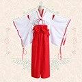 Trajes dramatização festa vestido para as mulheres Anime Inuyasha Kikyou/Eden's chave Kimono cosplay disfraces vestido onesie