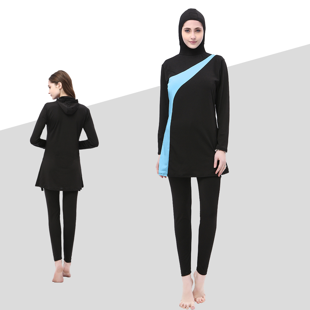 Muslim Modest Swimwear Women Hijab Islamic Swim Wear Plus Size Ladies Bathing Swimming Suit Islam Full Cover Clothes Swimsuit