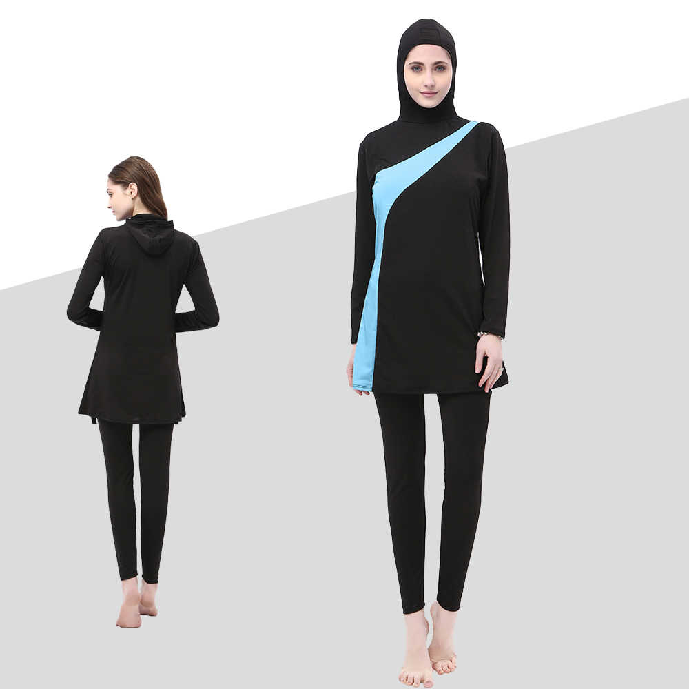 fb6fad7225 Detail Feedback Questions about Muslim Modest Swimwear Women Hijab Islamic  Swim Wear Plus Size Ladies Bathing Swimming Suit Islam Full Cover Clothes  ...