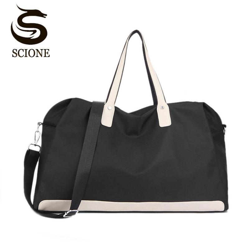 Scione Waterproof Luggage Suitcase Women Large Travel Bags Leisure Cabin Duffel Crossbody Bag Weekend Sport Shoulder Handbags Travel Bags Luggage & Bags - title=
